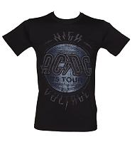 Men's Washed Black High Voltage 1975 AC/DC Tour T-Shirt