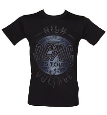 Men's Washed Black High Voltage 1975 AC/DC Tour T-Shirt [View details]