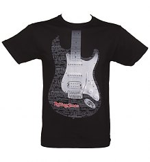 Men's Washed Black Rolling Stone Magazine Guitar T-Shirt [View details]