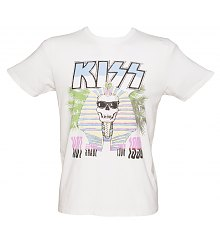 Men's White 1980 KISS Tour T-Shirt from Junk Food AS SEEN ON HARRY STYLES [View details]