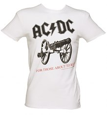 Men's White AC/DC For Those About To Rock T-Shirt from Amplified Vintage [View details]