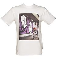Men's White Addict X Insa Emily Girls On Bikes T-Shirt from Addict