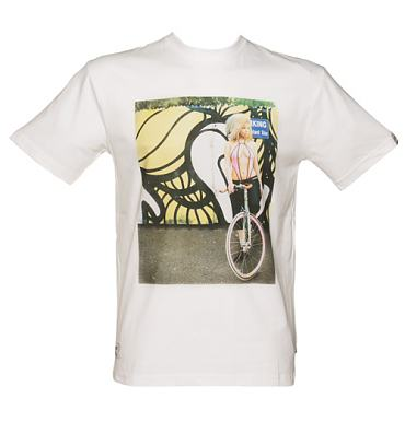 Men's White Addict X Insa Layla Girls On Bikes T-Shirt from Addict