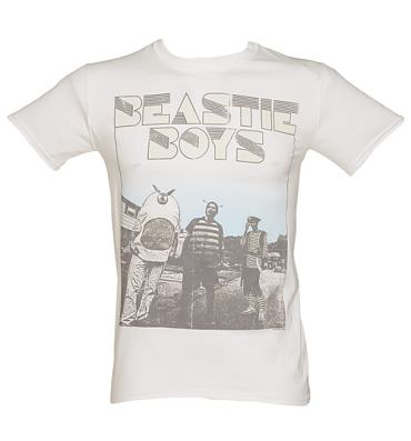 Men's White Beastie Boys Costumes T-Shirt
