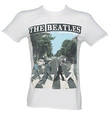Men's White Beatles Abbey Road T-Shirt from Amplified Vintage [View details]