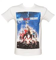 Men's White Big Bang Theory Poster T-Shirt