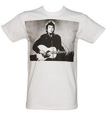 Men's White Bob Dylan Photographic T-Shirt [View details]