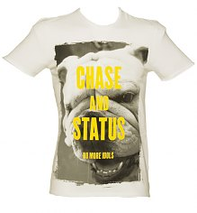 Men's White Chase And Status No More Idols T-Shirt from Amplified Vintage [View details]