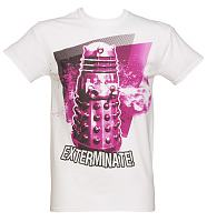 Men's White Dalek Exterminate Doctor Who T-Shirt