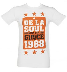 Men's White De La Soul Since 1988 T-Shirt [View details]