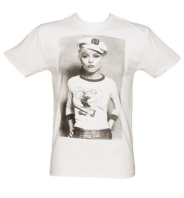 Men's White Debbie Harry Sailor T-Shirt from Dirty Cotton Scoundrels
