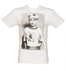 Men's White Debbie Harry Sailor T-Shirt from Dirty Cotton Scoundrels [View details]