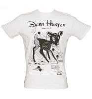 Men's White Deer Hunter T-Shirt from Chunk