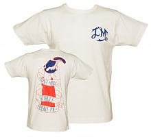Men's White Don't You Forget About Me T-Shirt from Illustrated Mind