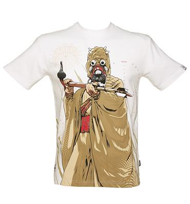 Men's White Dune Warrior Star Wars T-Shirt from Addict