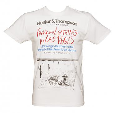 Men's White Fear And Loathing In Las Vegas By Hunter S Thompson T-Shirt from Out Of Print