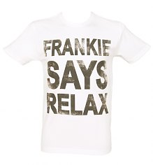 Men's White Frankie Says Relax T-Shirt [View details]