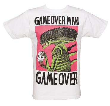 Men's White Game Over T-Shirt from Illustrated Mind
