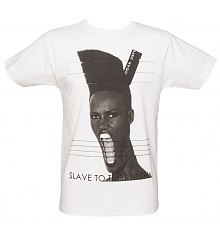 Men's White Grace Slave To The Rhythm T-Shirt from To The Black [View details]