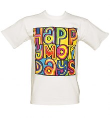 Men's White Happy Mondays T-Shirt [View details]