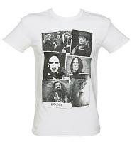 Men's White Harry Potter Collage T-Shirt