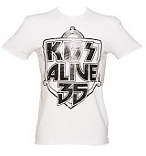 Men's White KISS Alive 35 Foil T-Shirt from Amplified Vintage