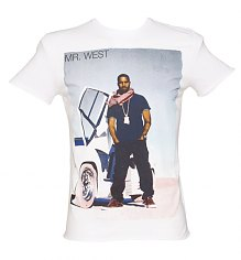 Men's White Kanye West Fashion T-Shirt from Amplified [View details]