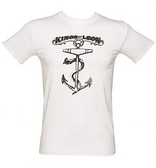 Men's White Kings Of Leon Anchor T-Shirt [View details]