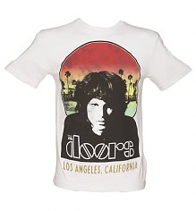 Men's White LA The Doors Premium T-Shirt from Amplified Vintage [View details]