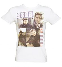 Men's White Life Magazine Cover US Music Icon T-Shirt [View details]