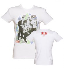 Men's White Life Magazine Cover 90's Boy Band T-Shirt [View details]