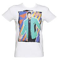 Men's White Life Magazine US Sitcom Icon Cover 80's T-Shirt