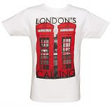 Men's White Londons Calling Phone Boxes T-Shirt from To The Black