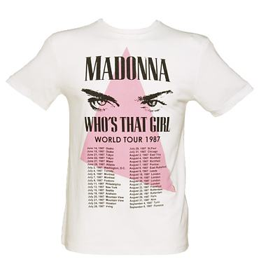 Men's White Madonna 1987 Tour T-Shirt from Amplified Vintage