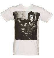 Men's White Michael Jackson And Bubbles T-Shirt