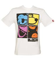 Men's White Mickey Mouse Pop Squares T-Shirt from Bloc28 By Disney