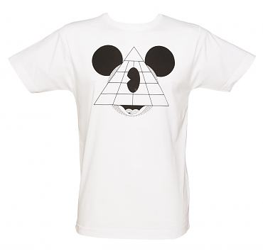 Men's White Mouse Pyramid T-Shirt from To The Black
