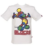 Men's White Multi Colour Mickey Mouse T-Shirt from Block28 By Disney