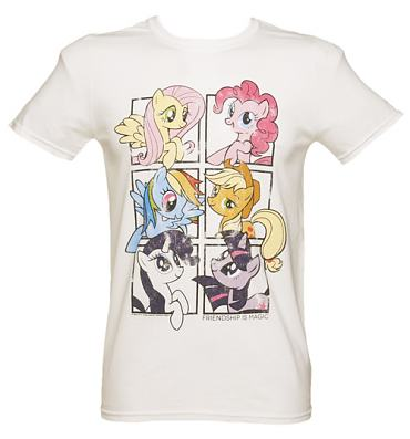 Men's White My Little Pony Friendship Is Magic Group Shot T-Shirt
