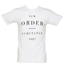 Men's White New Order Substance 1987 T-Shirt [View details]