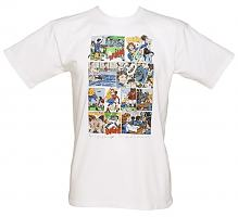 Men's White Opening Credits Grange Hill T-Shirt from Retreat