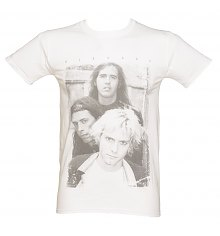 Men's White Photographic Nirvana T-Shirt [View details]