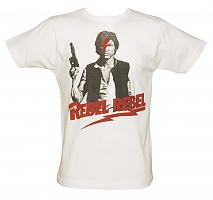 Men's White Rebel Rebel T-Shirt from Illustrated Mind
