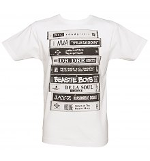 Men's White Retro Albums T-Shirt from To The Black [View details]