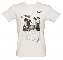 Men's White Retro Foosball T-Shirt from Kempt