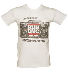 Men's White Rock Box Run DMC T-Shirt [View details]