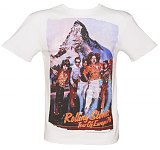 Men's White Rolling Stones Tour Of Europe 76 Premium T-Shirt from Amplified Vintage