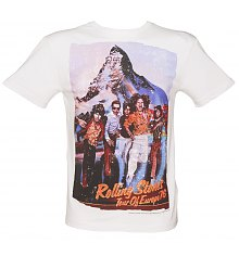 Men's White Rolling Stones Tour Of Europe 76 Premium T-Shirt from Amplified Vintage [View details]