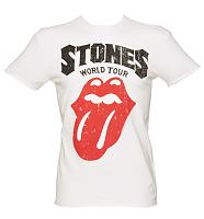 Men's White Rolling Stones World Tour T-Shirt from Amplified Vintage
