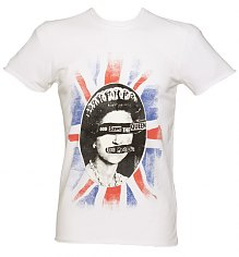 Men's White Sex Pistols God Save The Queen T-Shirt from Amplified Vintage [View details]